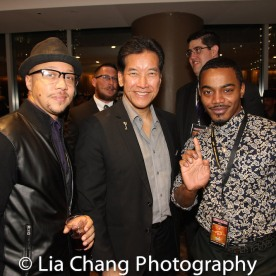 Jarren Martin, Peter Kwong and Jermaine Aqua Kirkland at the Cinemax® VIP Welcome Red Carpet Reception and UAS IAFF Awards at HBO in New York on November 11, 2016. Photo by Lia Chang