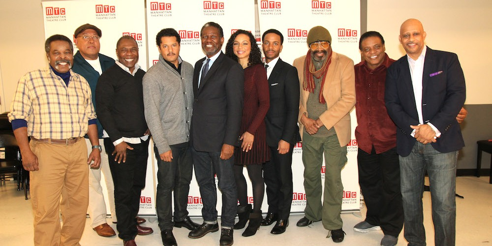 Ray Anthony Thomas, Keith Randolph Smith, Michael Potts, Brandon Dirden, John Douglas Thompson, Carra Patterson, André Holland, Anthony Chisholm, Harvy Blanks and Ruben Santiago-Hudson. Photo by Lia Chang