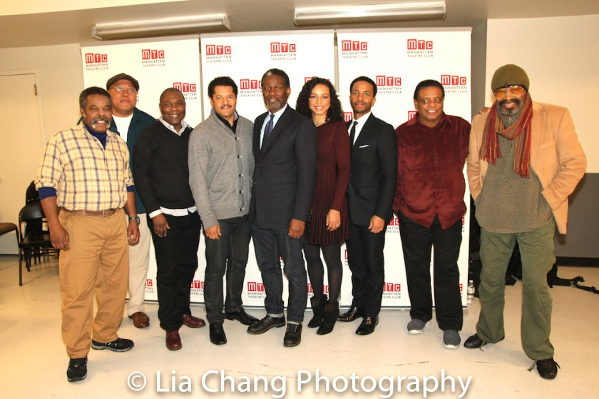 Ray Anthony Thomas, Keith Randolph Smith, Michael Potts, Brandon Dirden, John Douglas Thompson, Carra Patterson, André Holland, Harvy Blanks, Anthony Chisholm. Photo by Lia Chang