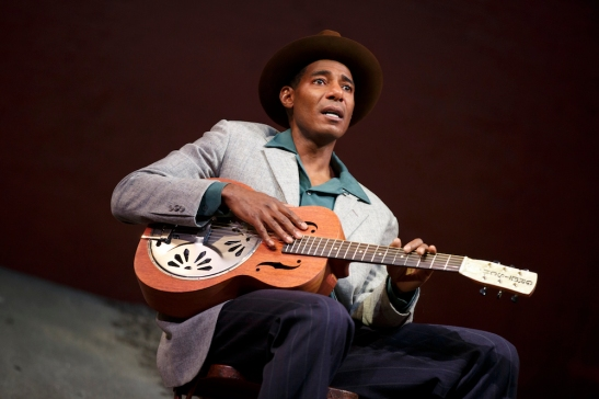 Billy Eugene Jones in August Wilson's Seven Guitars, directed by Timothy Douglas. Photo by Joan Marcus 2016.