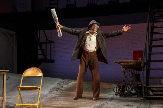 André De Shields in August Wilson's Seven Guitars, directed by Timothy Douglas. Photo by Joan Marcus 2016.