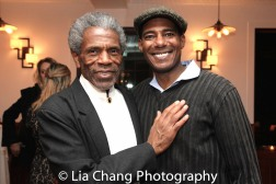 André De Shields and Billy Eugene Jones at the opening night celebration at Atelier Florian. Photo by Lia Chang