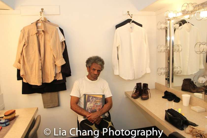 André De Shields backstage at Yale Rep. Photo by Lia Chang