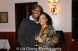 Billy Eugene Jones and Rachel Leslie at the opening night celebration at Atelier Florian. Photo by Lia Chang