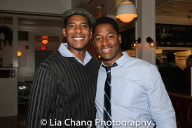 Billy Eugene Jones and Wayne T. Carr at the opening night celebration at Atelier Florian. Photo by Lia Chang