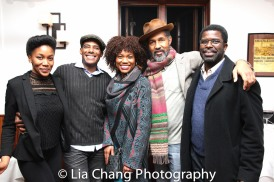 Lauren E. Banks, Billy Eugene Jones, Dion Graham and Marshall Jones III at the opening night celebration at Atelier Florian. Photo by Lia Chang