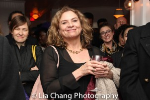 August Wilson's widow Constanza Romero at the opening night celebration at Atelier Florian. Photo by Lia Chang