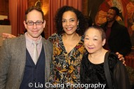 Garth Kravits, Rachel Leslie and Lori Tan Chinn backstage at Yale Rep. Photo by Lia Chang