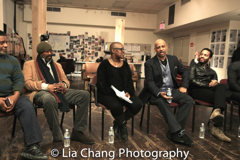 Harvy Blanks, Anthony Chisholm, Katti Gray, Ruben Santiago-Hudson, André Holland. Photo by Lia Chang
