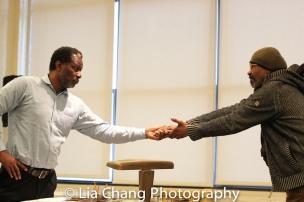 John Douglas Thompson and Anthony Chisholm. Photo by Lia Chang