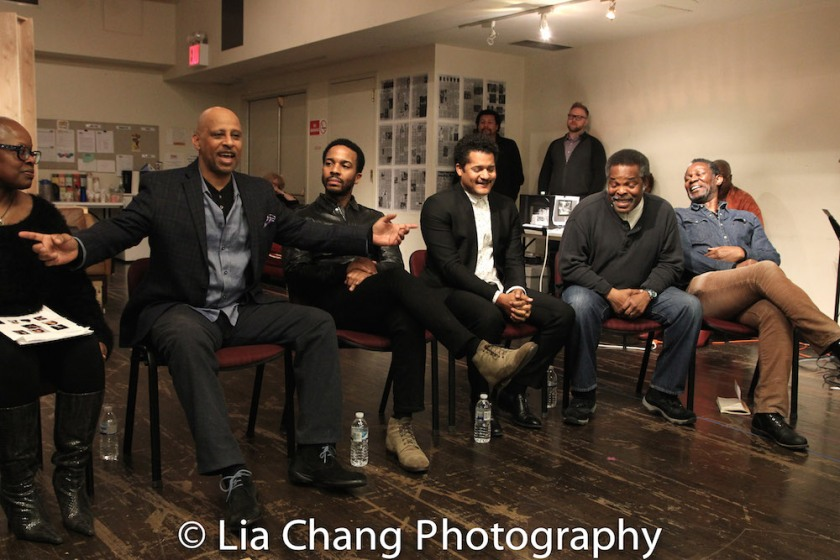 Katti Gray, Ruben Santiago-Hudson, André Holland, Brandon Dirden, Ray Anthony Thomas, John Douglas Thompson. Photo by Lia Chang
