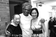 Lori Tan Chinn, André De Shields and Lia Chang backstage at Yale Rep. Photo by Garth Kravits