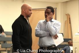 Director Ruben Santiago-Hudson and John Douglas Thompson. Photo by Lia Chang