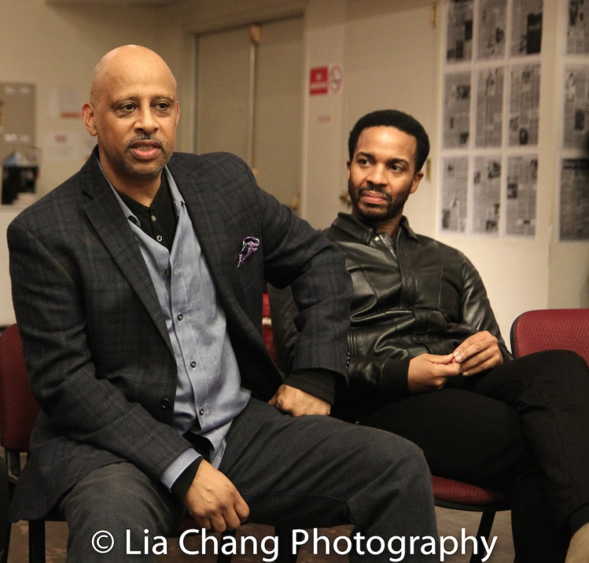 Ruben Santiago-Hudson, André Holland. Photo by Lia Chang