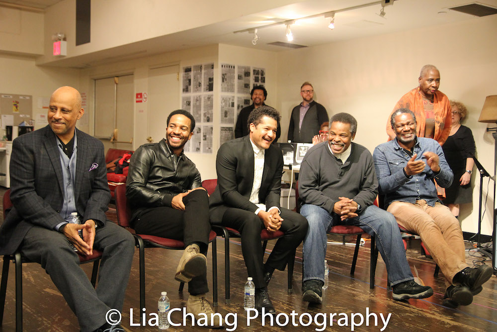 Ruben Santiago-Hudson, André Holland, Brandon Dirden, Ray Anthony Thomas and John Douglas Thompson. Photo by Lia Chang