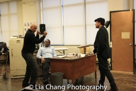 Director Ruben Santiago-Hudson, John Douglas Thompson and Brandon Dirden. Photo by Lia Chang