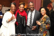 Stephanie Berry, Antoinette Crowe-Legacy, Danny Johnson and Rachel Leslie backstage at Yale Rep. Photo by Lia Chang