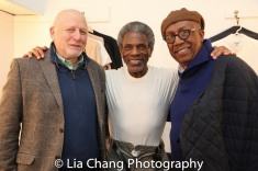 Tad Schnugg, André De Shields, and George Faison backstage at Yale Rep. Photo by Lia Chang