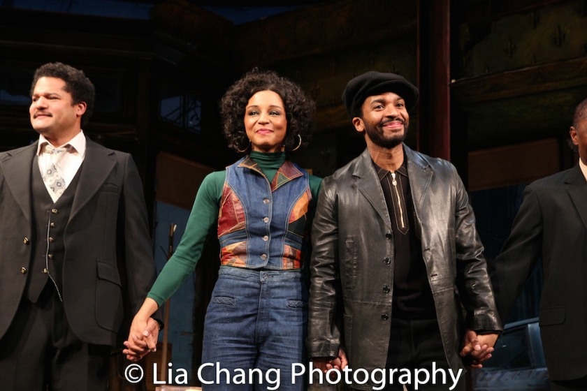 Brandon J. Dirden, Carra Patterson, André Holland. Photo by Lia Chang