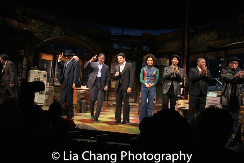 Anthony Chisholm, John Douglas Thompson, Brandon J. Dirden, Carra Patterson, Andre Holland, Michael Potts, Harvy Blanks. Photo by Lia Chang