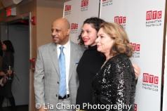 Ruben Santiago-Hudson, August Wilson's daughter Azula Carmen Wilson and the late playwright's wife Constanza Romero. Photo by Lia Chang