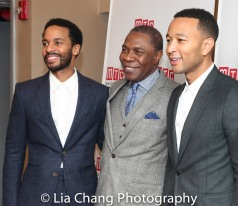 André Holland, Michael Potts and John Legend. Photo by Lia Chang