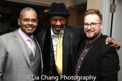 Ron Simons, Anthony Chisholm and a guest. Photo by Lia Chang