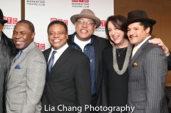 Michael Potts, Harvy Blanks, Keith Randolph Smith, Lynne Meadow and Brandon J. Dirden. Photo by Lia Chang