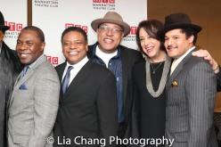 Michael Potts, Harvy Blanks, Keith Randolph Smith, Lynne Meadow and Brandon J. Dirden. Photo by Lia Chang
