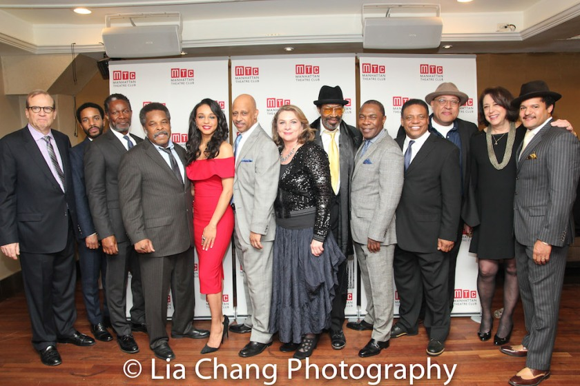 Barry Grove, André Holland, John Douglas Thompson, Ray Anthony Thomas, Carra Patterson, Ruben Santiago-Hudson, Constanza Romero, Anthony Chisholm, Michael Potts, Harvy Blanks, Keith Randolph Smith, Lynne Meadow and Brandon J. Dirden. Photo by Lia Chang