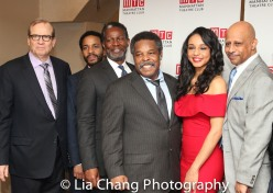 Barry Grove, André Holland, John Douglas Thompson, Ray Anthony Thomas, Carra Patterson, Ruben Santiago-Hudson. Photo by Lia Chang