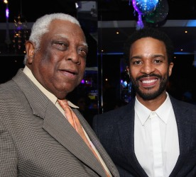 Woodie King Jr. and André Holland. Photo by Lia Chang