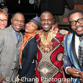 A guest, Michael Potts, Sonja Sohn, Gbenga Akinnagbe and Chad L Coleman. Photo by LIa Chang