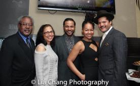 Willie Dirden, Deborah Dirden, Jason Dirden, Crystal Dickinson and Brandon J. Dirden. Photo by Lia Chang