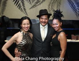 Lia Chang, Brandon J. Dirden and Crystal Dickinson.