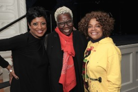 Marva Hicks, a guest and Denise Burse. Photo by Lia Chang