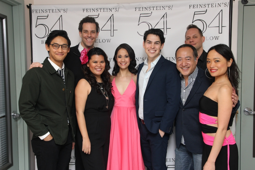 Joshua Dela Cruz, Jeremy Stolle, Liz Casasola, Ali Ewoldt, Rodney Ingram, Alan Muraoka, Derek Gregor and Rona Figueroa. Photo by Lia Chang