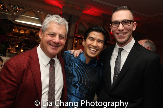 Cameron Mackintosh, Christopher Vo, Seth Sklar-Heyn. Photo by Lia Chang