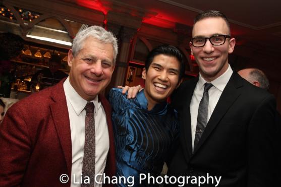 Cameron Mackintosh, Christopher Vo, Seth Sklar-Heyn. Photo by Lia Chang