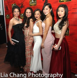 Catherine Ricafort, Carol Angeli Wynn, Lina Lee, Tiffany Toh and Viveca Chow. Photo by Lia Chang