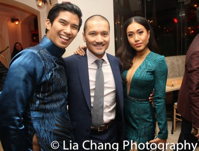 Christopher Vo, Jon Jon Briones and Rachelle Ann Go. Photo by Lia Chang