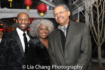 Taurean Everett and his parents Junetta Everett and Victor Everett. Photo by Lia Chang