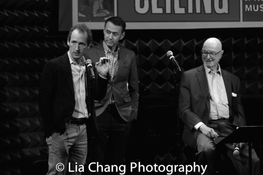 Jeffrey Seller, Andre Lippa and Jules Feiffer. Photo by Lia Chang