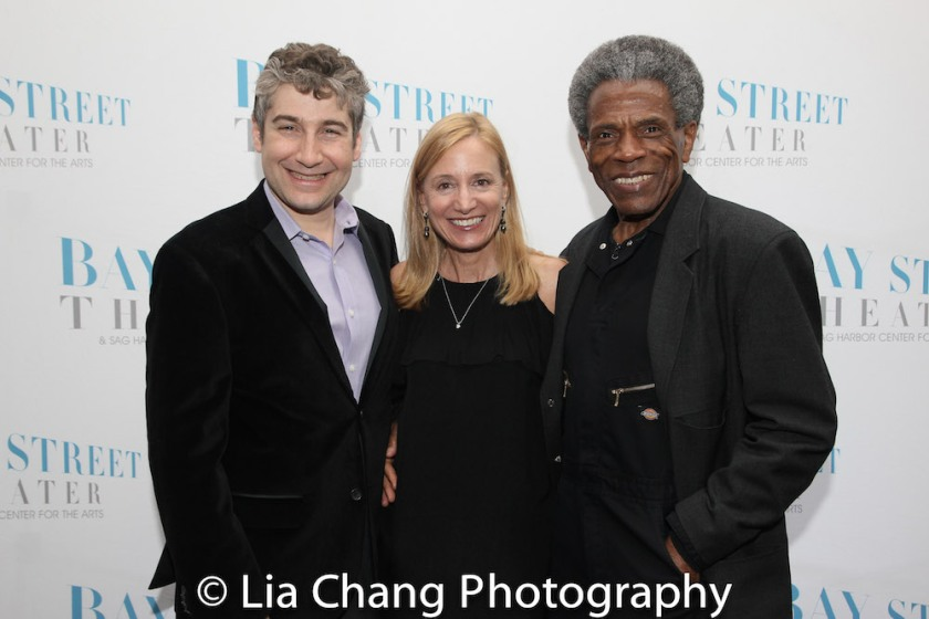Bay Street's Artistic Director Scott Schwartz, Executive Director Tracy Mitchell and André De Shields. Photo by Lia Chang