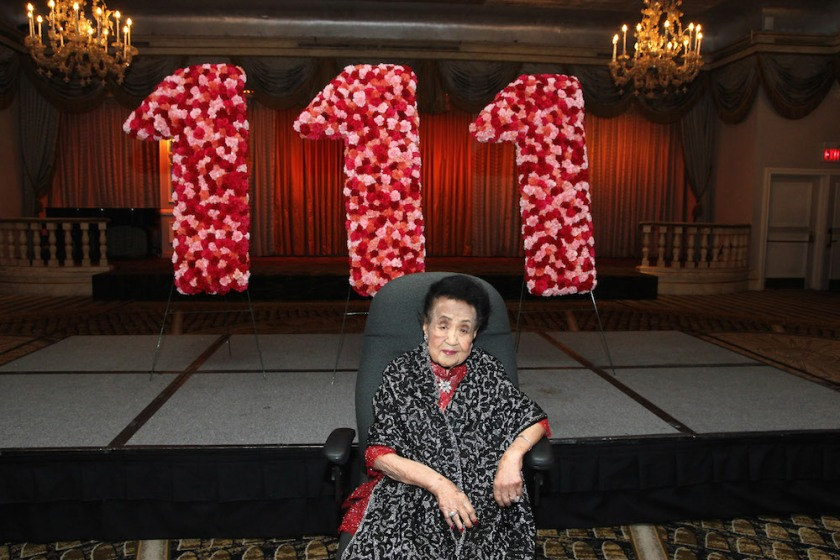Mrs. Koo celebrates her 111th birthday at The Pierre in New York on October 2, 2016. Photo by Lia Chang