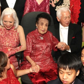 Mrs. Koo celebrates her 111th birthday and poses for her annual birthday portrait with her family and her guests at The Pierre in New York on October 2, 2016. Photo by Lia Chang