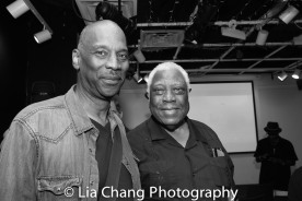Ajene D. Washington and Woodie King, Jr. Photo by Lia Chang