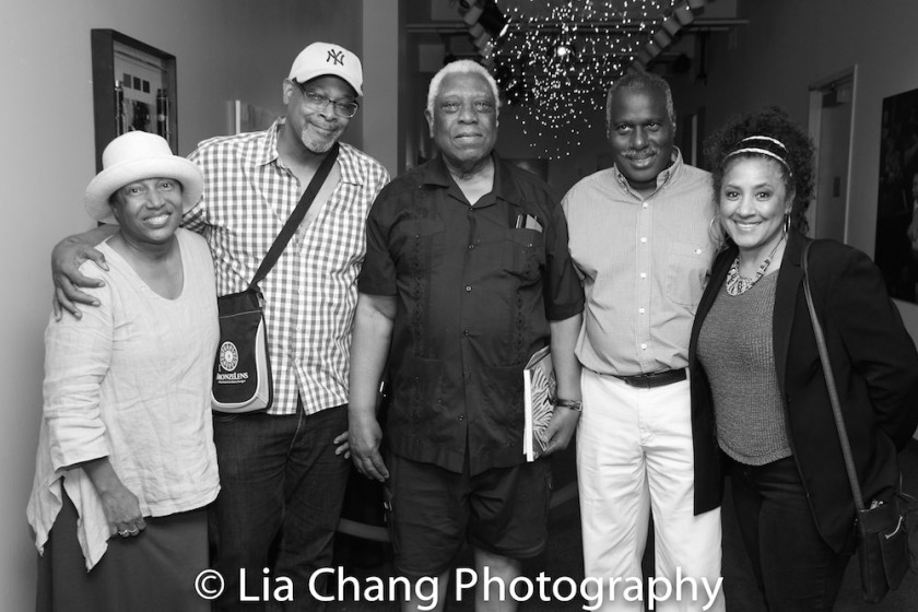 Elizabeth Van Dyke, Reed R. McCants, Woodie King Jr., Juney Smith and Joyce Sylvester Photo by Lia Chang