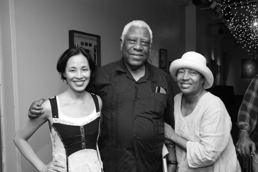 Lia Chang, Woodie King, Jr. and Elizabeth Van Dyke Photo by Garth Kravits