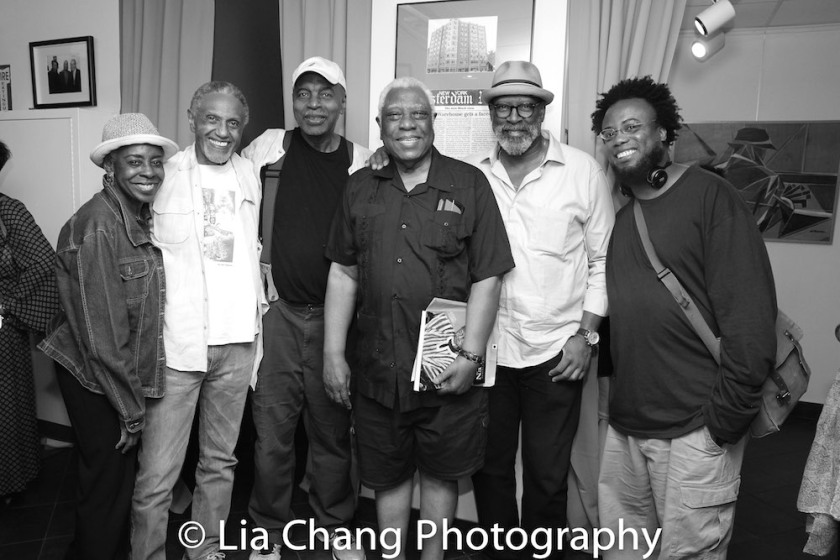 Marjorie Johnson, Charles Weldon, Richard Wesley, Woodie King, Jr., Dean Irby and a guest Photo by Lia Chang